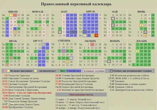 церковный православный календарь на ноябрь 2018 года
